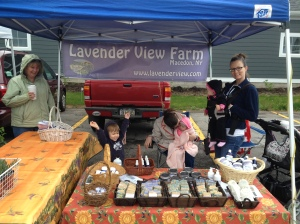 Our stand at Fairport Farmer's Market